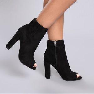 Fashion Nova Peep Toe Bootie